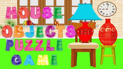 房子对象益智游戏为孩子们