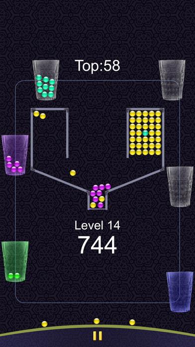 100个彩色糖果小球球大作战 - 100/100免费杯子互动接住小球游戏