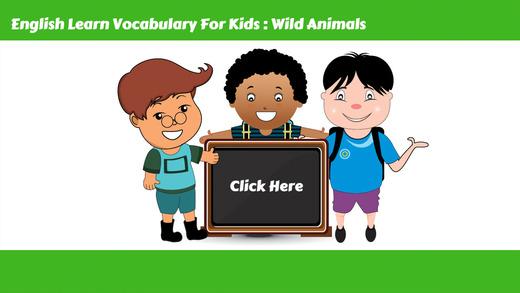 学习英语词汇课:为孩子们的学习教育游戏和初学者免费
