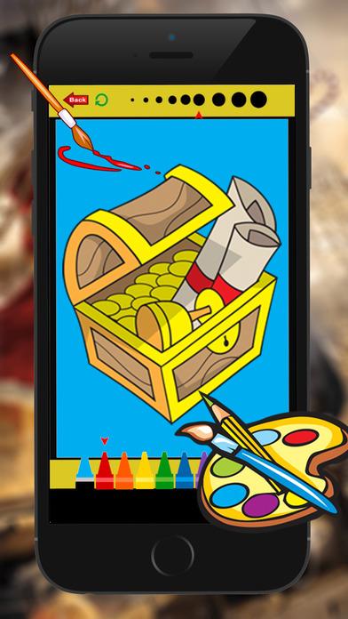 海盜圖畫書的兒童遊戲