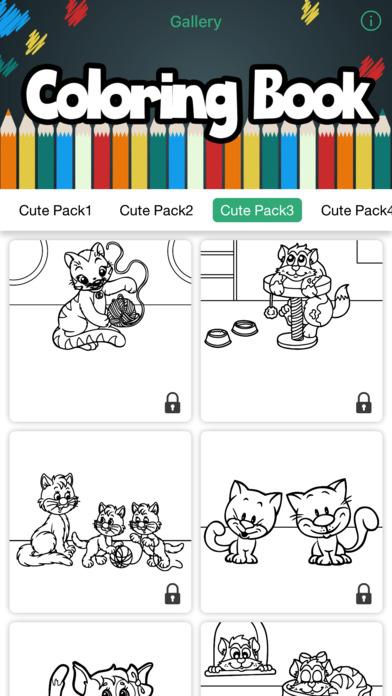 猫狗彩页绘图与可爱的动物