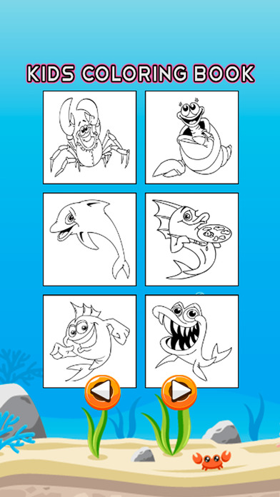 海洋动物图画书 - 水下绘图页和绘画学习技能比赛为儿童幼儿