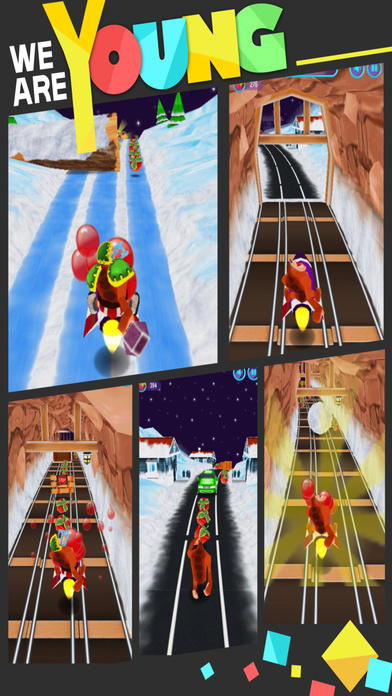 3D铁路跑酷奔跑大熊来了-专业版