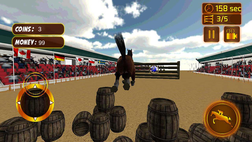 疯狂的野马跳宝藏狩猎赛车游戏