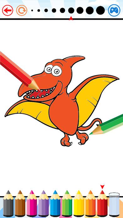 恐龙着色书 - 孩子的恐龙图画