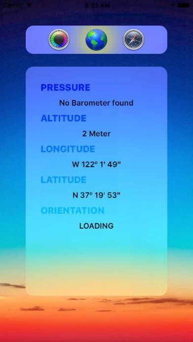 气压方位仪器 - 一屏显示你的气压,位置,方向