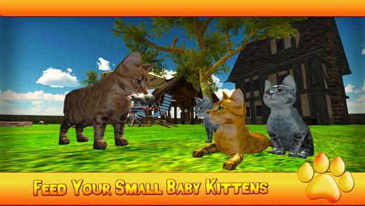 小猫猫3D模拟器 - 最佳猫捉老鼠的游戏
