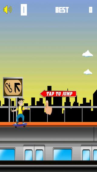 Jumpy Skater - 免费街机游戏男孩女孩和家庭