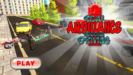 真正的救护车救援驾驶 - 汽车司机游戏