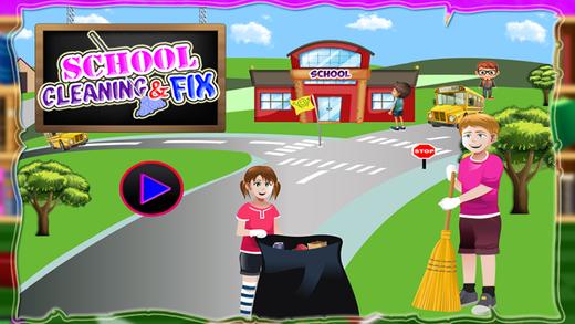 学校修理和修理 - 修理游戏