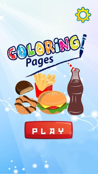 食品着色页绘图绘画为所有的孩子