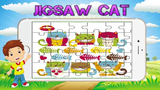 卡通猫拼图