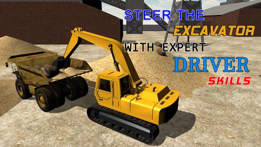 沙挖掘机模拟器 - 操作起重机和传动卡车在这个模拟游戏