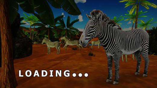斑马模拟器和动物野生动物游戏