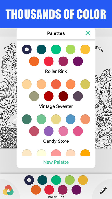 成人着色书抗颜色治疗 : 一个探索奇境的手绘涂色应用