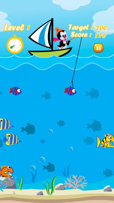 企鹅钓鱼游戏 - 在船上钓鱼声势浩大