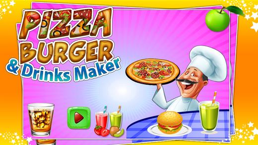 比萨汉堡和饮料制造商 - 开玩笑游戏