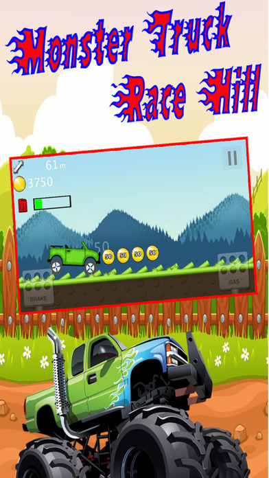 4*4 Monster Truck Hill Climb Racing : 疯狂赛车手 2 免费 狂飙越野 登山赛车