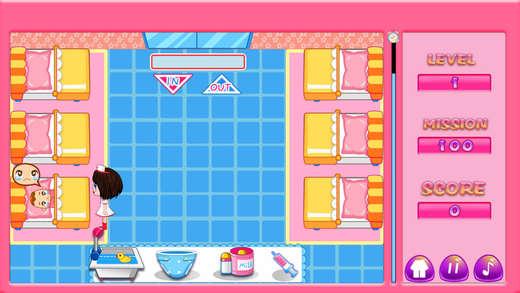 儿童医院婴儿护理室单机游戏