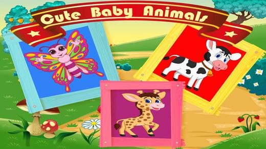 可爱的动物宝宝益智游戏