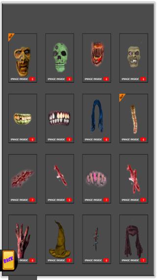 僵尸脸转型 - 可怕的怪物照片展位 支付