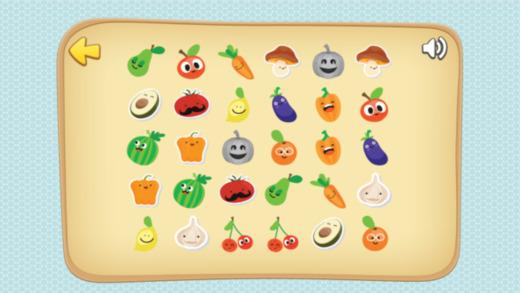 有趣的蔬菜配对游戏