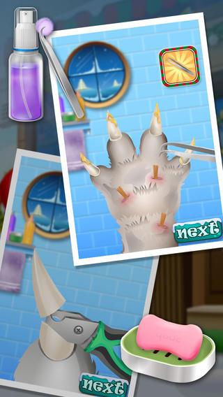 圣诞宠物美指甲沙龙 - 儿童游戏
