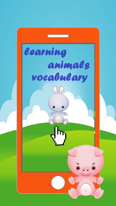 词汇动物游戏的孩子 - 为孩子们听,学的第一句话就是,用词汇讲英文与动物