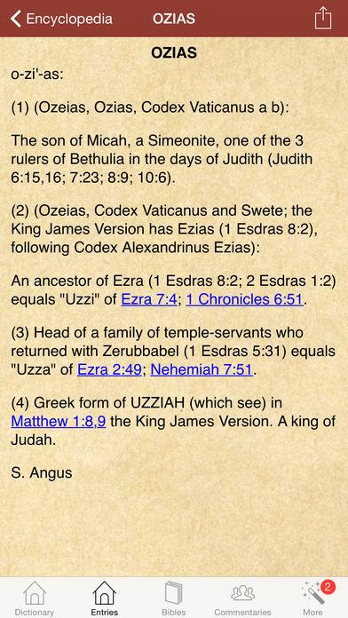 15,000 一本圣经与圣经研究和评论的字典和百科全书。