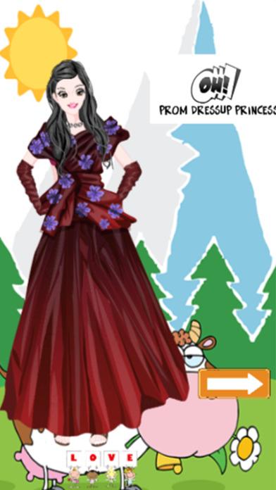 舞会打扮公主游戏的女孩。