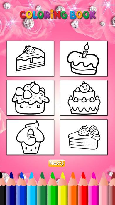 蛋糕彩图HD:学画画和颜色的蛋糕,为孩子免费游戏