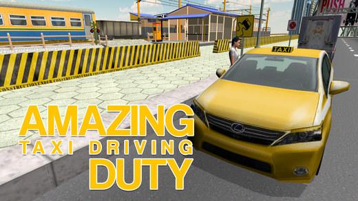 出租车司机模拟器 - 黄色出租车驾驶及停车位的模拟游戏