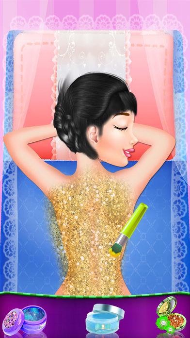 女孩温泉治疗和背部按摩 - 这个游戏对于身体放松