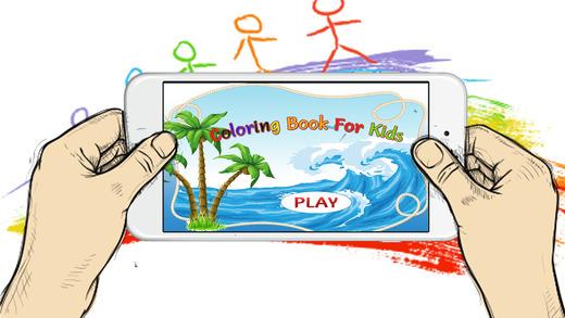 绘画儿童游戏:水生动物免费!