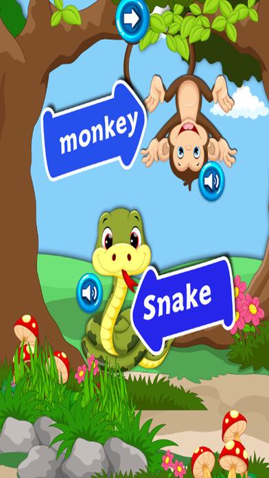 宠物英语单词:教育游戏的孩子