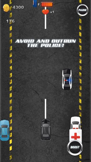 """快速街头赛车""""逃脱警方的追捕'"""
