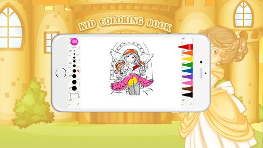 着色书(公主2):着色页与学习游戏为孩子们免费!