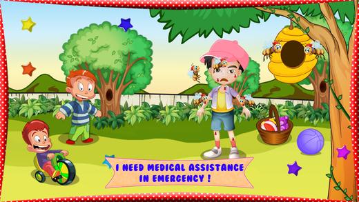 蜜蜂过敏的婴儿护肤品 - 疯狂的医生与医院的虚拟游戏,小孩