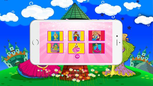 着色书(公主):着色页与学习教育游戏为孩子们免费!