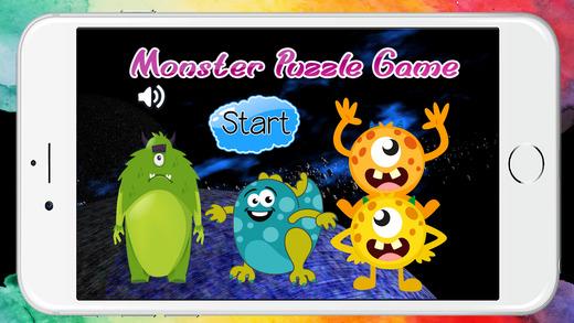 怪物和外来拼图免费幼儿园