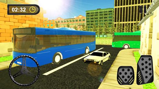 3D公共汽车停车场城市驾驶测试模拟器