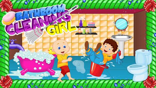浴室清洁女孩 - 清洁和洗涤游戏