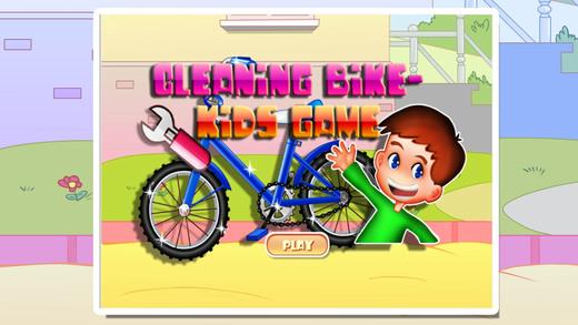 宝贝清洗自行车