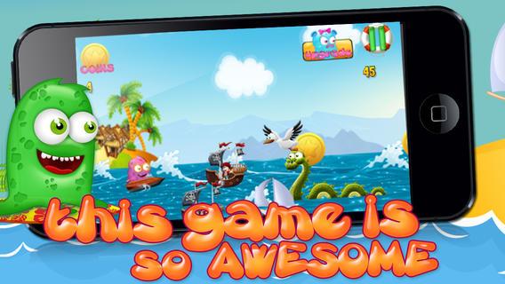 不可能果冻岛海滩航程的诅咒 - 金币飞溅战免费游戏! Curse of the Impossible Jelly Fish Island Voyage - Gold Coin Splash Battle FREE Game !