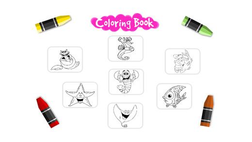 海洋动物为孩子们着色书