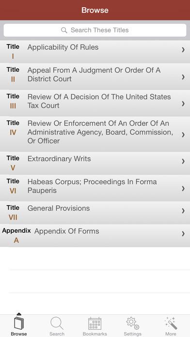 """联邦上诉程序规则""""在你的口袋里"""