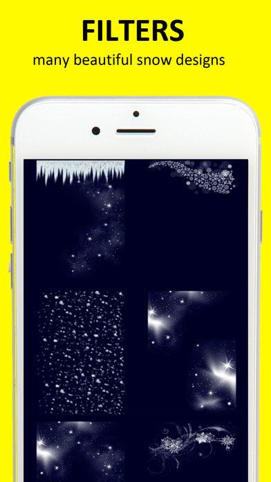 Snow camera 雪新年照片编辑器免费