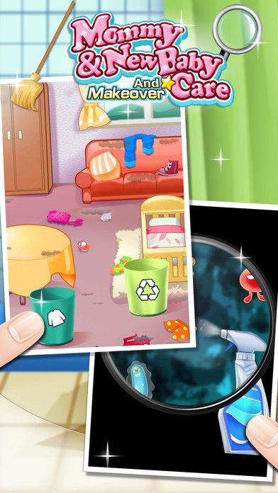 妈妈的小助手-新生儿房间打扫游戏