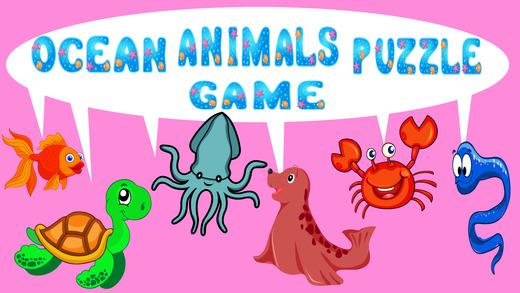 海洋动物的益智游戏