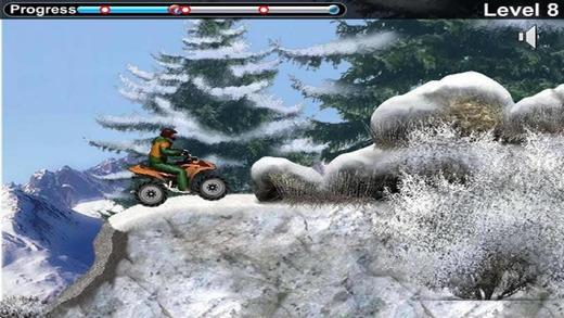 雪地自行车赛
